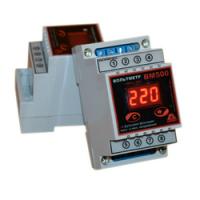 Вольтметр цифровой ВМ500 переменное напряжение на Din-рейку с функцией памяти максимального и минимального напряжения фото 1