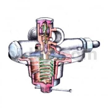 Регулятор управления КН-2 - вид в разрезе