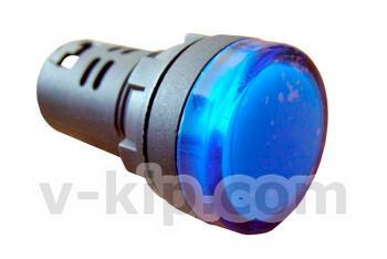 Фото арматуры светосигнальной AD22-22DS синей 24 В AC/DC