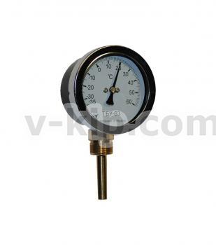 Термометр биметаллический радиальный ТБУ-63 фото 1