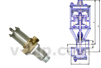 Клапан с пневмоприводом УФ 96278-010