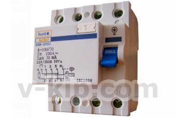 Фото устройства защитного отключения ПЗВ-2002 4р/100А/30мА АСКО
